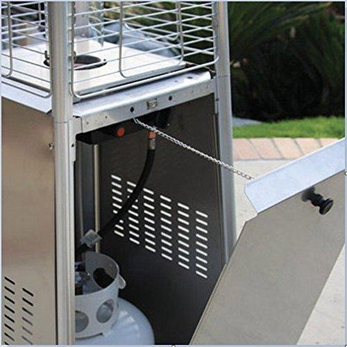 Agoora Estufa Gas Exterior para Terrazas con dise/ño Pir/ámide de 13kw con Regulador y Manguera