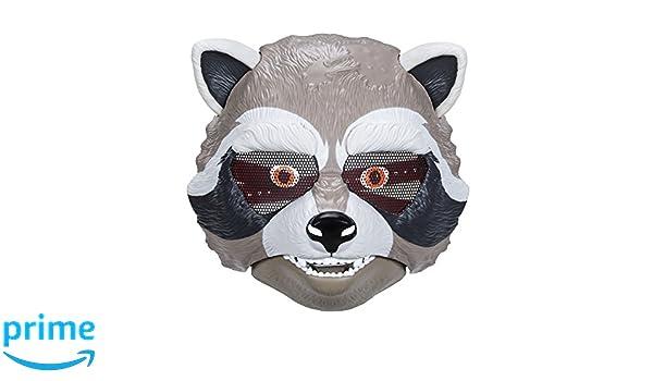 Marvel Guardianes de la Galaxy Rocket Raccoon máscara: Amazon.es: Juguetes y juegos