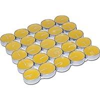 50 Adet Limon Kokulu Sarı Tea Light Mum