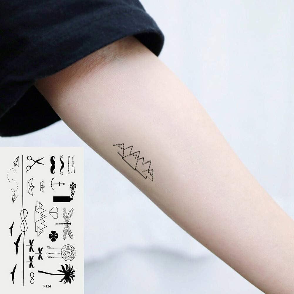 Oottati 2 Hojas Pequeño Lindo Tatuaje Temporal Tattoo Vacaciones ...