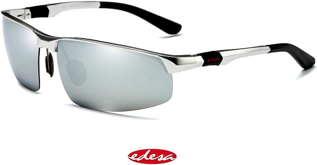 Gafas de sol para hombre, polarizadas, para pesca o para conducir, con estuche