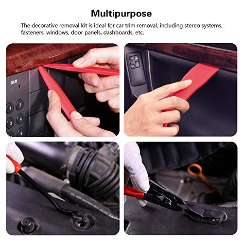 Helen Butler Auto Trim Removal Tool Kit - 14 Pcs Car Audio Tools for Car Panel Dash Audio Radio Removal, Panel Clip Pliers, Strong Nylon Pry Tools (14PCS - RED) by Helen Butler (Image #4)