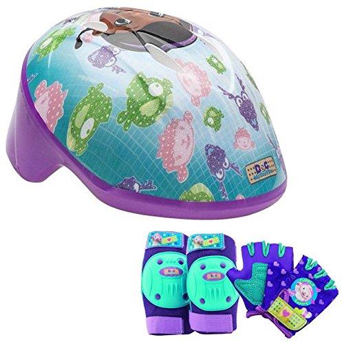 Disney Doc McStuffins Girls Bike/Skate Helmet Pads & Gloves - 7 Piece Set ()