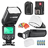 Neewer® Triopo TR-988 E-TTL CANON I-TTL NIKON Speedlite Camera Flash Kit *High Speed Sync* EOS 5D Mark II 2 III 3 1Ds 6D 7D 60D 50D 40D 30D 300D 100D 350D 400D 450D 500D 550D 600D 650D 700D 1000D 1100D; For Nikon D4S D4 D3S D800 D700 D80 D90 D7000 D7100 D50 D40X D60 D5000 D5100 D5200 D5300 D40 D3000 D3100 D3200 D3300,Include:(1)TR-988 Flash +(1)Universal Mini Flash Bounce Diffuser Cap+(1)35-piece Color Gel Filters+(1)16 Channels Wireless Remote Flash Trigger+(4)LR Battery
