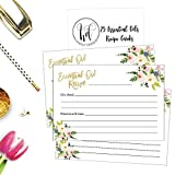 25 4x6 Floral Essential Oil Recipe Cards, For Blank