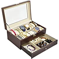adtl multifunción reloj visualización caja de almacenamiento caso Lentes anteojos de sol organizador de almacenamiento (3regalos gratis)
