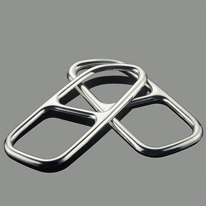 Auto Schwanz Throat Decor Auspuff-Ordnungs-Abdeckungen Fit For Mercedes Benz A B C E GLC GLE GLS Klasse C207 W205 Coupe W177 W176 W246 W212 W213 A180 A200 Auto-Auspuff-Endst/ück-Abdeckungs-Ordnung