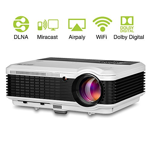 Eug lcd wireless projector wxga 1080p hdmi video support for Led projector ipad