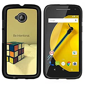 """Be-Star Único Patrón Plástico Duro Fundas Cover Cubre Hard Case Cover Para Motorola Moto E2 / E(2nd gen)( Intencional Game Cube Matemáticas Puzzle"""" )"""