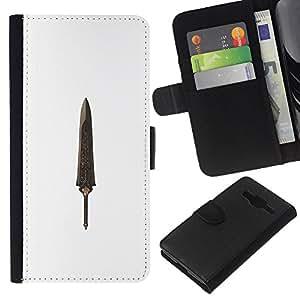 A-type (Dagger Relic Treasure Knife) Colorida Impresión Funda Cuero Monedero Caja Bolsa Cubierta Caja Piel Card Slots Para Samsung Galaxy Core Prime