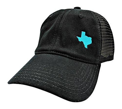 Customizable, All 50 States & Texas High Ponytail Cap (Black/Customized) ()
