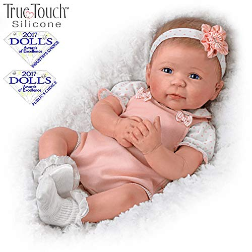The Ashton-Drake Galleries Ava TrueTouch Silicone with Hand-Rooted Hair - Award-Winning Lifelike, Realistic Newborn Baby Doll -