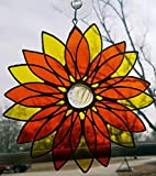 READY TO SHIP Orange and Yellow Stained Glass 3D Flower!