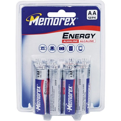 UPC 034707010062, Memorex High Performance AA Alkaline Batteries, 12 Pack