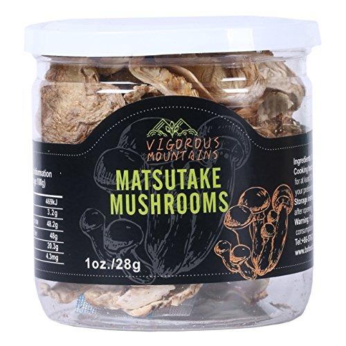 Matsutake Mushrooms (Vigorous Mountains Dried Tricholoma Matsutake Pine Mushrooms Fungus 1 Ounce)
