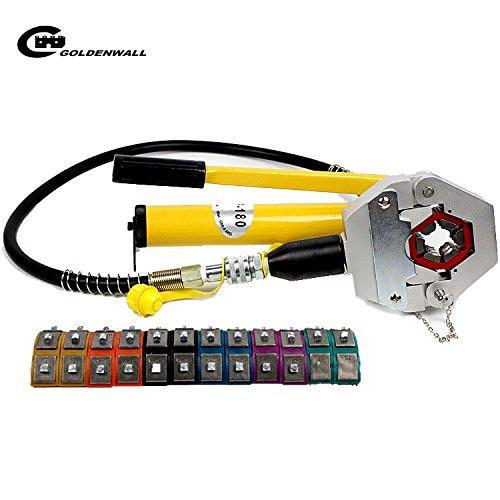 CGOLDENWALL FS-7842B手動油圧式ホース 圧着 セット車エアコンホース修理 ポンプ付き B077RS7VKC