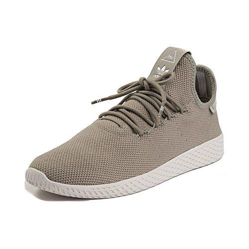 バラエティ細胞(アディダス) adidas 靴?シューズ レディーススニーカー Mens adidas Pharrell Williams Tennis HU Athletic Shoe Beige/White ベージュ/ホワイト US 9 (27cm)