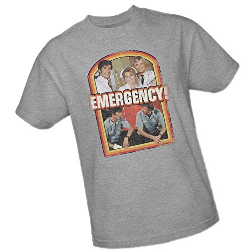 Cast Mens T-shirt - Cast Distressed Print -- Emergency Adult T-Shirt, XXX-Large