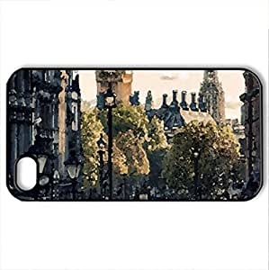 trafalgar square in london - Case Cover for iPhone 4 and 4s (Monuments Series, Watercolor style, Black)