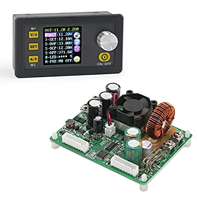DROK Numerical Control Step Down Voltage Regulator Stabilizer, DC 6-55V to 0-50V 5A Constant Voltage Current Buck Power Converter Voltage Transformer