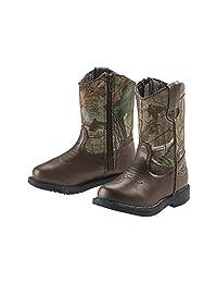 Legendary Whitetails Boys Dustin Jr Cowboy Boots Dark Brown 5