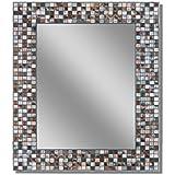 headwest earthtone copper bronze mosaic tile wall mirror 24 x 30 - Decorative Mirror