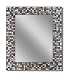 "bathroom wall tile Headwest Earthtone Copper-Bronze Mosaic Tile Wall Mirror, 24"" x 30"""