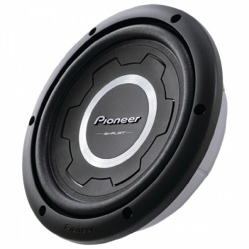 """PIONEER TS-SW2501S4 10"""", 1,200-Wa Shaow Subwoofe (4_ voie oi; 400W omia)"""