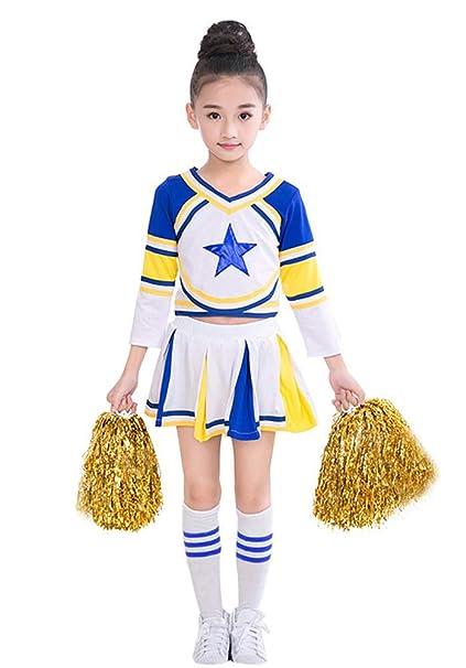 LOLANTA Disfraz de Animadora niña Azul, con Vestido y ...