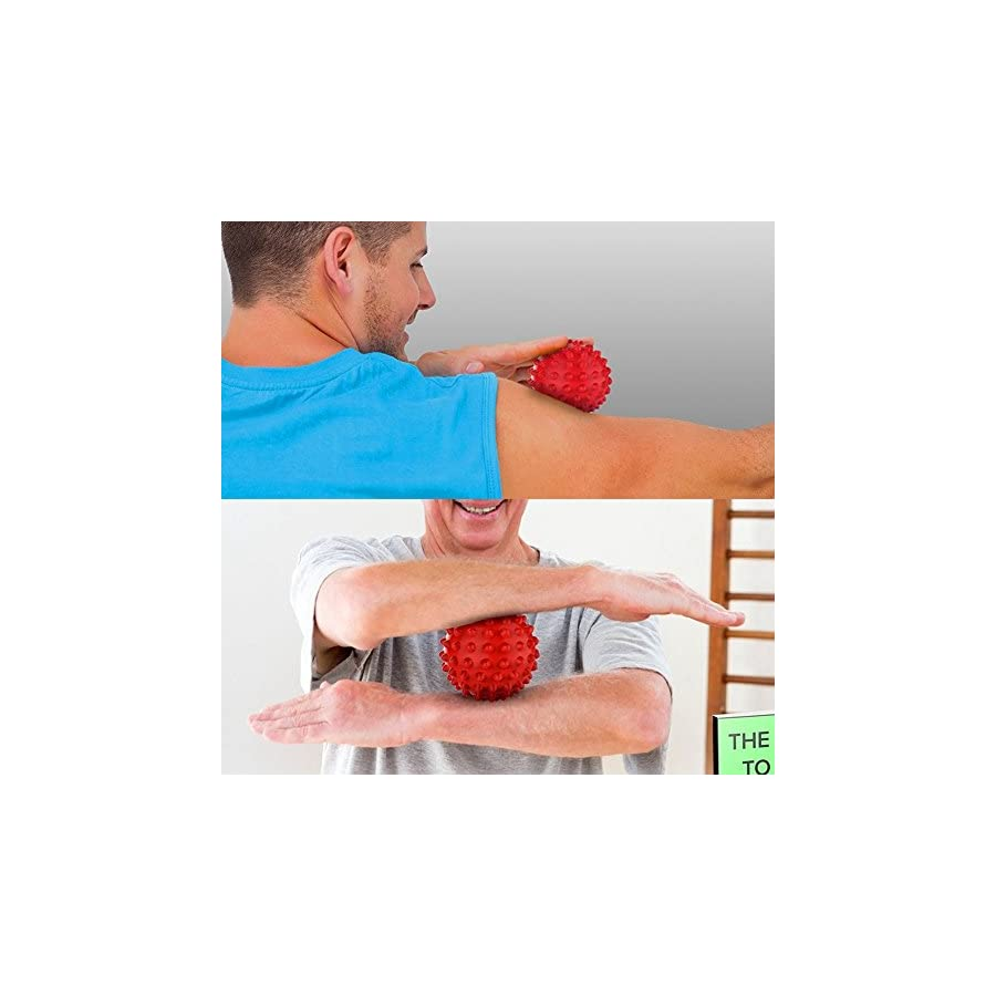 Zuoao 2 Pack Foot Massage Ball Mini Spiky Roller Ball for Deep Tissue Foot, Back, Plantar Fasciitis & All Over Body Muscle Therapy