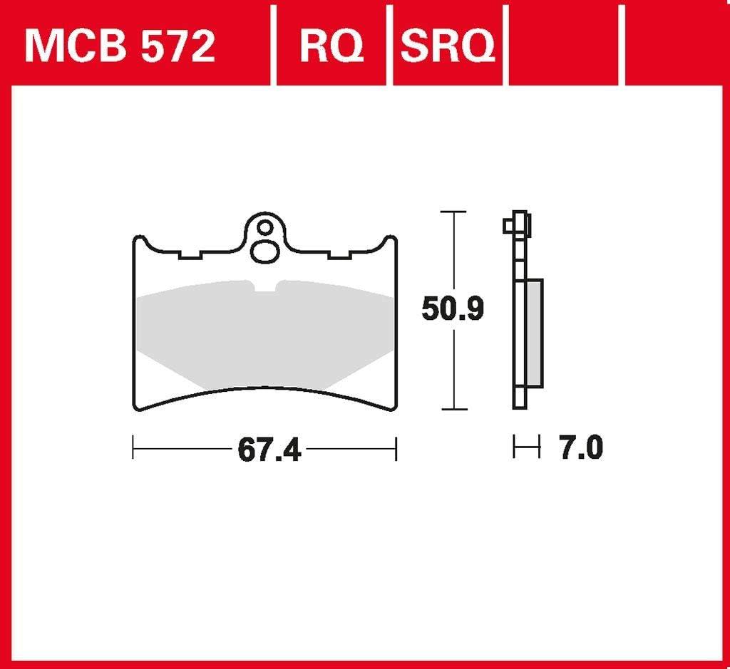 Bremsbelag TRW organischer Sport-Bremsbelag RS 125 Tuono SF 03-04 vorne
