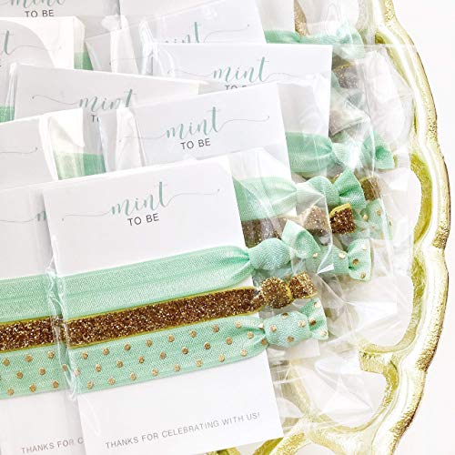 Mint To Be Bridal Shower, Bachelorette Party and Baby Shower Favors - Hair Ties (5 -