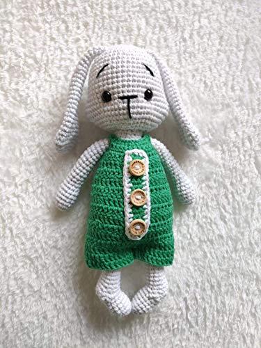 Security mini blanket for baby: PATTERN crochet Lovely Bunny ... | 500x375