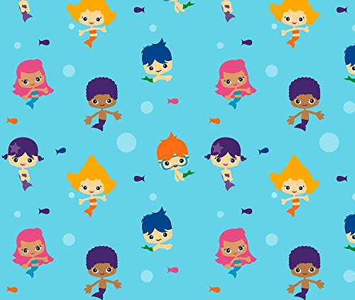 Bubble Guppies Fabric Bubble Kids by Collide Prints Printed on Fleece Fabric by the Yard by Spoonflower (Bubble Guppies Fabric)
