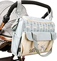 SoHo Diaper Bag Gray Rabbits 10 pcs Nappy Tote Stylish Bag for Baby mom dad pad