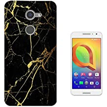 002745 - Broken Glass Leaking Gold Bloggers Fashion Design alcatel A3 XL 6inch CASE Gel Silicone All Edges Protection Case Cover