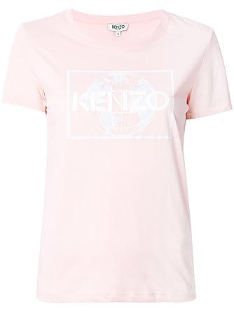 5f7aef11a Kenzo Women's F762ts72199034 Pink Cotton T-Shirt: Amazon.co.uk: Clothing