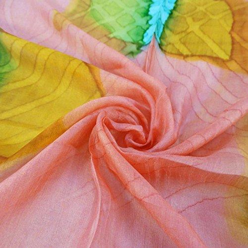de Seda de Bufandas Pulgadas Mujeres de Impreso Bufanda 40 Verano Cuadradas Salm Pura Moda Bandana qEppw5OU