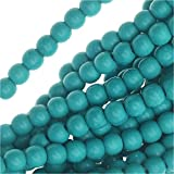 Turquoise Gem Round Beads 4mm / 16 Inch Strand