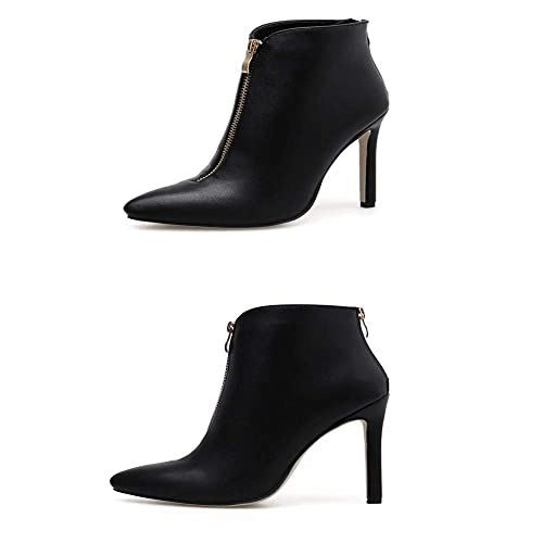 Shirloy Botas de Mujer Botines con Doble Cremallera Botas de tacón de Aguja Botas de tacón Alto cómodas Calzado de Temperamento: Amazon.es: Zapatos y ...