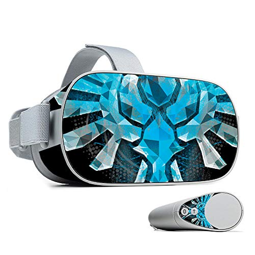 (MightySkins Skin for Oculus Go - Blue Reborn | Protective, Durable, and Unique Vinyl Decal wrap Cover | Easy to Apply, Remove, and Change Styles | Made in The USA)