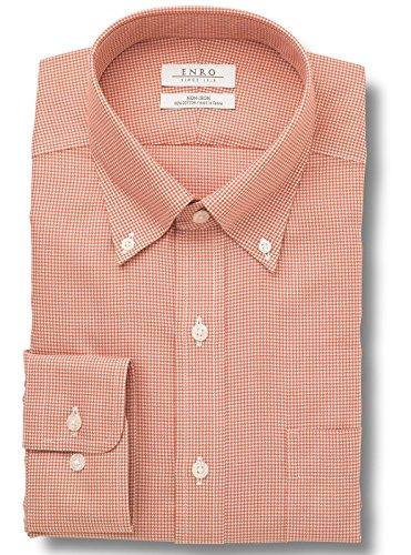 Enro Button Down Dress Shirt (Enro Big-Tall Lakewood Button Down Collar Non-Iron Dress Shirt-Rust 17.5 36/37)