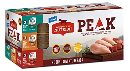 Rachael Ray Nutrish PEAK Natural Wet Dog Food Variety Pack, Grain Free Adventure Pack