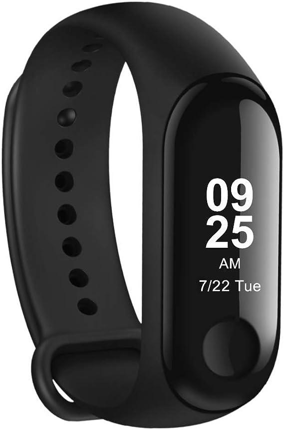 Mini Relógio Xiaomi Mi Band 3 Smart Watch Para Android, Ios Preto