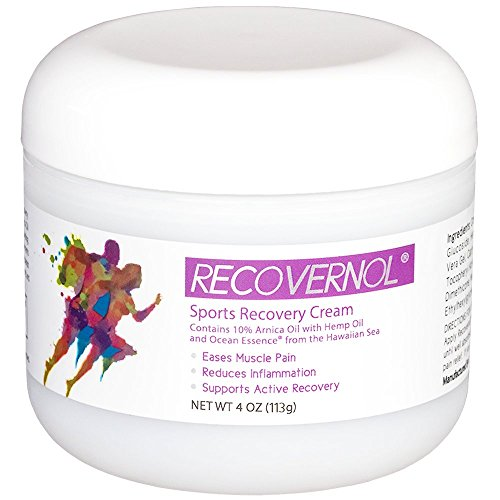 Recovernol Sports Recovery Cream | Fortfied with 10% Arnica, MSM, Hemp & Coconut Oil, Vitamins A & E plus Ocean Essence Minerals | Supports Joint, Tendon, Ligament & Muscle Repair (Recovery Essence)