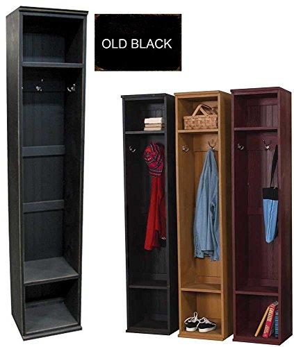 Sawdust City Wood Mudroom Locker (Old - Black) (Black Locker Room)