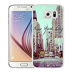 Unique And Lovely Designed Case For Samsung Galaxy S6 With Vintage New York City White Phone Case