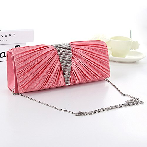 Rhinestone Chain Dasein Bags Shoulder Elegant Clutch Ladies�� Sia MagiDeal Fuch Bag Evening ZTtqOSxEw