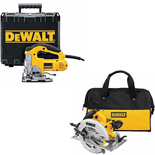 DeWalt DW331K HD VRS Top-Hndl Jig Saw & DeWalt DWE575SB 7.5 inch Ltwght Circ Saw