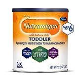 Enfamil Nutramigen Hypoallergenic Colic Toddler Formula Lactose Free Milk Powder, 12.6 ounce (Pack of 6) - Omega 3 DHA, LGG Probiotics, Iron, Immune Support